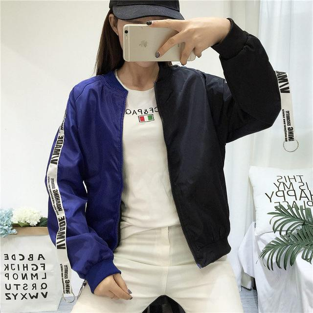 Bomber Jackets Women 2018 New Women's Basic Jacket Fashion Windbreaker High Quality Outwear Female Baseball Women Coat-rodewe