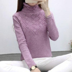 2018 Autumn winter Fashion Women sweater high elastic Solid Turtleneck sweater women slim sexy tight Bottoming Knitted Pullovers-rodewe