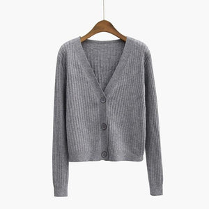 PEONFLY Women Spring/ Autumn Sweater Coat Jacket Sweaters Cardigans Women Female Knitted-rodewe