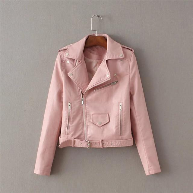 Helisopus 2018 Autumn Winter PU Leather Jacket Women Slim Casual Basic Jacket Streetwear Fashion Short Coats-rodewe