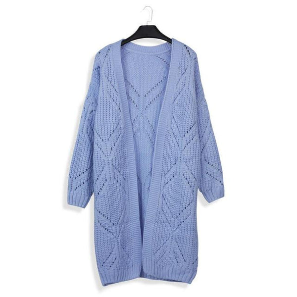 7eb43416cd8a YHKGG 2018 Hollow Casual knitting long cardigan female Loose kimono knitted  jumper warm winter sweater women