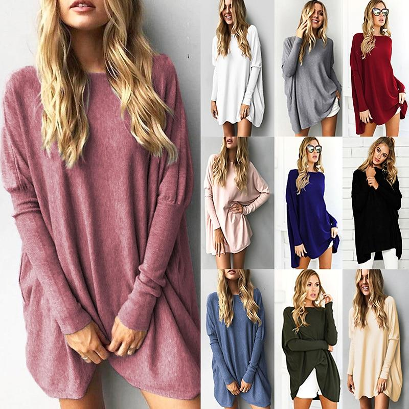 Sweater Tops Women 2018 Autumn Winter Long Sleeve Plus Size Pullovers Elegant Women Loose Female Sweater Clothing-rodewe