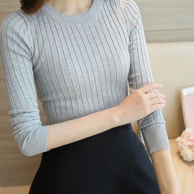 2017 Autumn Winter Female Sweater High Elastic Turtleneck Fashion Sweater Women Slim Sexy Knitted Pullovers 5 Colors S4-rodewe
