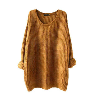 JAYCOSIN 2017 Women Warm Sweater Autumn Winter Solid Cotton Loose Knitted Casual O-neck Female Pullovers Sweater Jumper 30%-rodewe