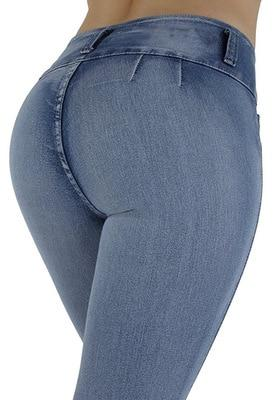 Women's Stretch Denim Skinny Slim Jeans Butt Lifting Pencil Pants High Waist Jeans Trousers-rodewe
