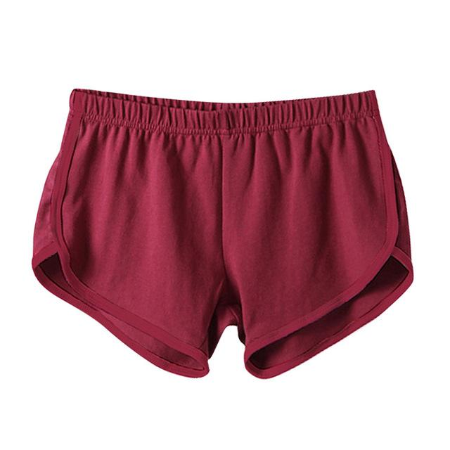 Fast Drying Drawstring Women Shorts Casual Anti Emptied Cotton Contrast Elastic Waist Correndo Short Esportes shorts S4-rodewe