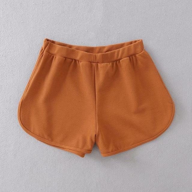 Summer Street Casual Women Short Pants Women All-match Loose Solid Soft Cotton Casual Female Stretch Shorts-rodewe