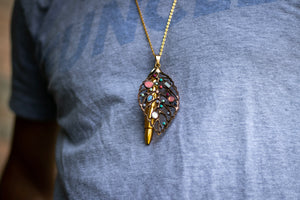 The Crystal Leaf Necklace