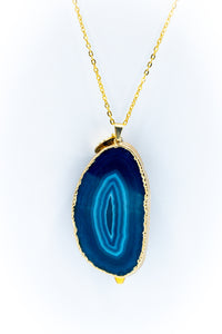 The Sliced Geode Druzy - Blue/Gold
