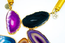 Load image into Gallery viewer, The Sliced Geode Druzy - Cafe/Gold
