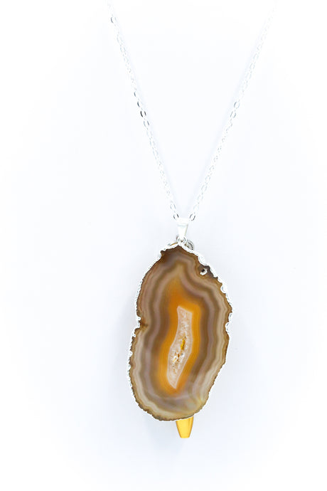 The Sliced Geode Druzy - Cafe/Silver