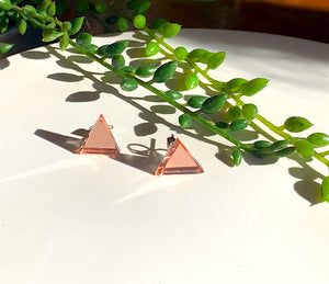 Baby Rose Gold -Shine Bright Triangle Earring