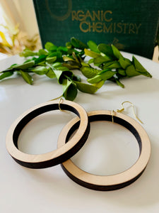 Large Wooden Loop Earrings