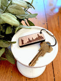"""New York City Skyline"" Wooden Keychain"