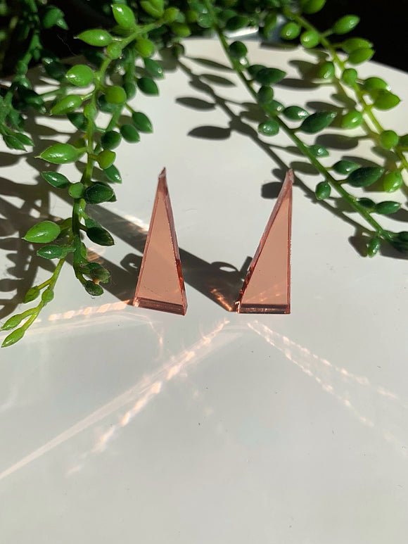 Rose Gold -Shine Bright Triangle Earring