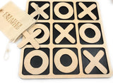 CreaTech-Classic 14x14 Extra Large Tic-Tac-Toe Board Game XOXO TicTacToe Classic Board Games Noughts and Crosses Family Brain Teaser Puzzle Coffee Table for Adults and Children All Ages
