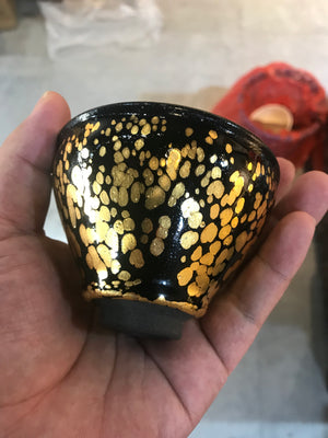 Golden And Black Jian Ware Tenmoku Cup China Traditional|Best Ceramics