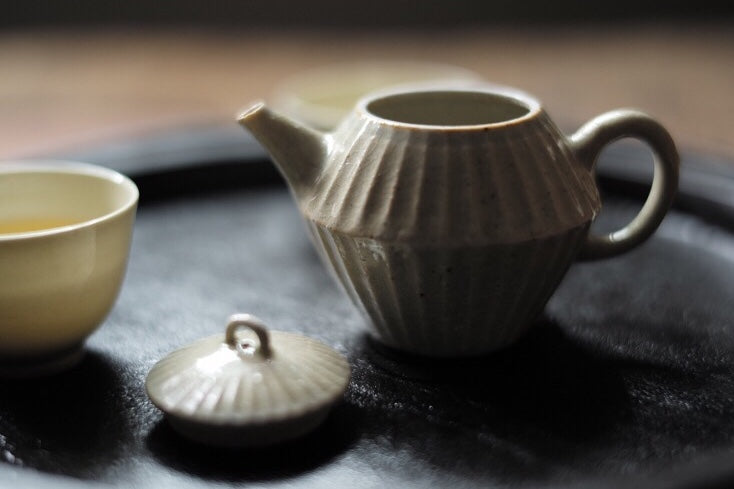 Handmade Wood-fired Lovely Melon Ridge Gongfucha Teapot Set|Best Ceramics