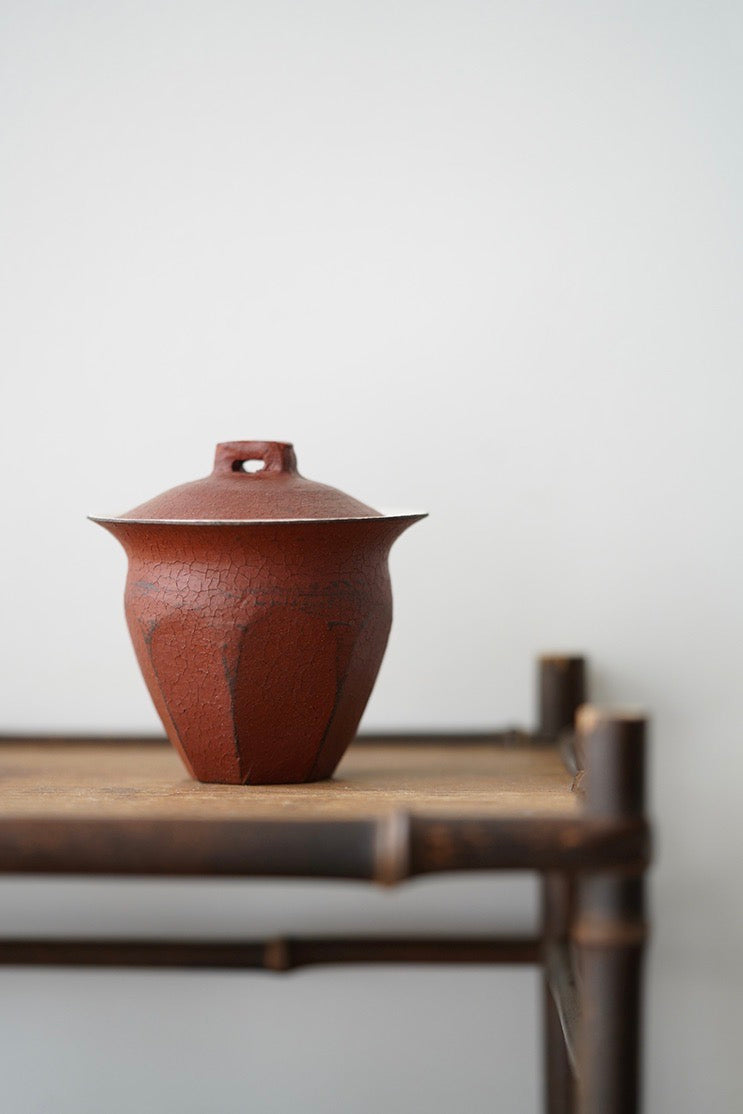 Handmade Red Clays Gaiwan Cracked Glaze Chinese Ceramics|Best Ceramics