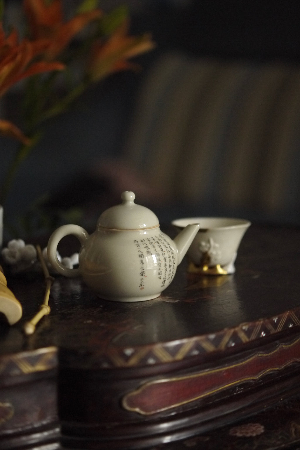 Handmade Chinese Calligraphy Style Gongfu Oolong Teapot|Best Ceramics
