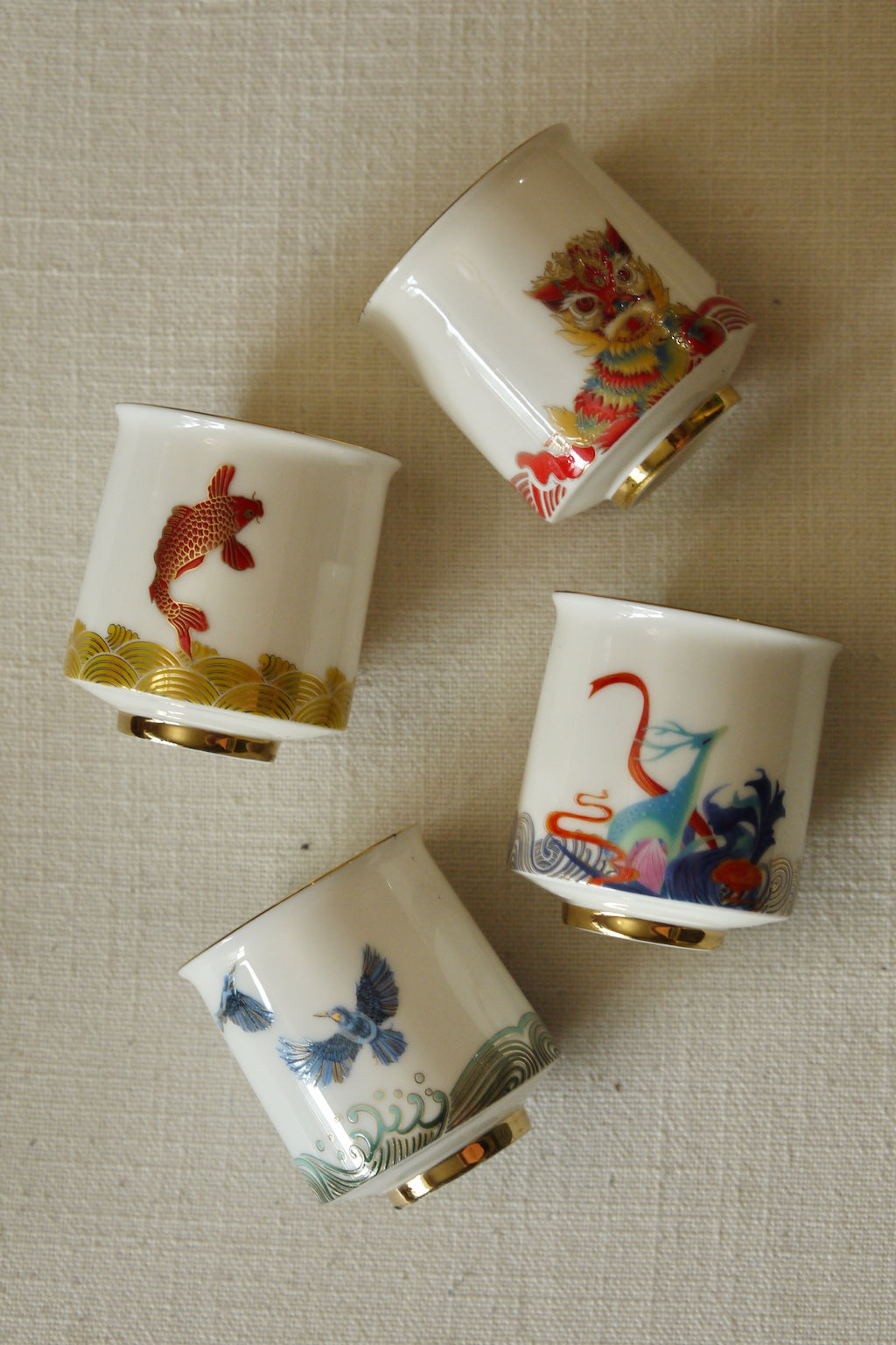 Chinese Vintage Style Crap Dehua Porcelain Teacup Set|Best Ceramics