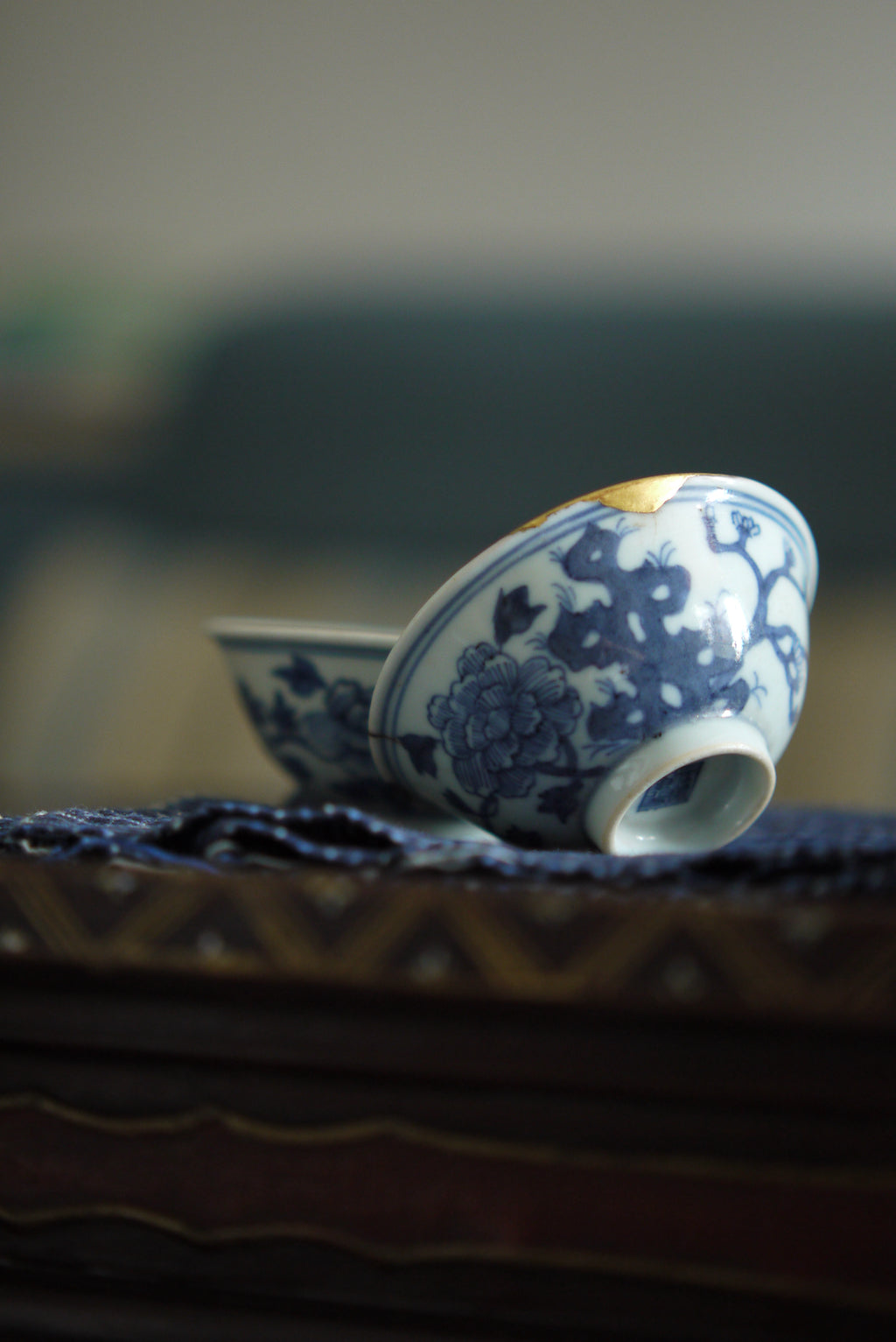 China Antique Blue And White Qing Dynasty Kintsugi Teacup|Best Ceramic…