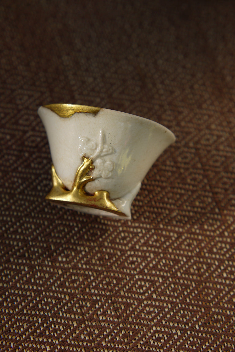 Kintsugi Ancient Blanc De Chine Teacup Dehua Porcelain|Best Ceramics
