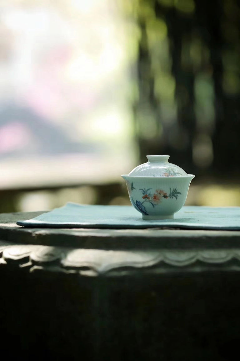 Hand-painted Vintage Chinese Gaiwan Set Gongfu Teaware |Best Ceramics