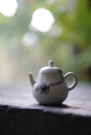 Teapot With Chinese Ink of Pine Tree Lovely Tea Ware|Best Ceramics