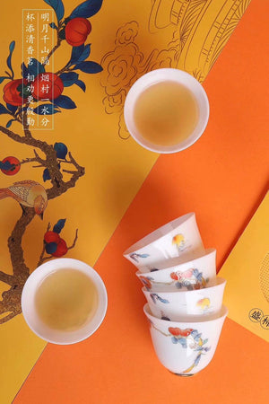Autumn Theme Teaset Beautiful Gaiwan Gongdao Teacups|Best Ceramics