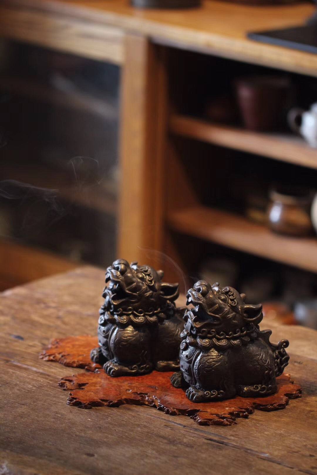 Qilin Censer Chinese Traditional Antique Style Tea Room|Best Ceramics