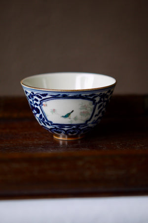 Deng Yu Tang Hand-painting Wood-fired Qinghua Teacup|Best Ceramics