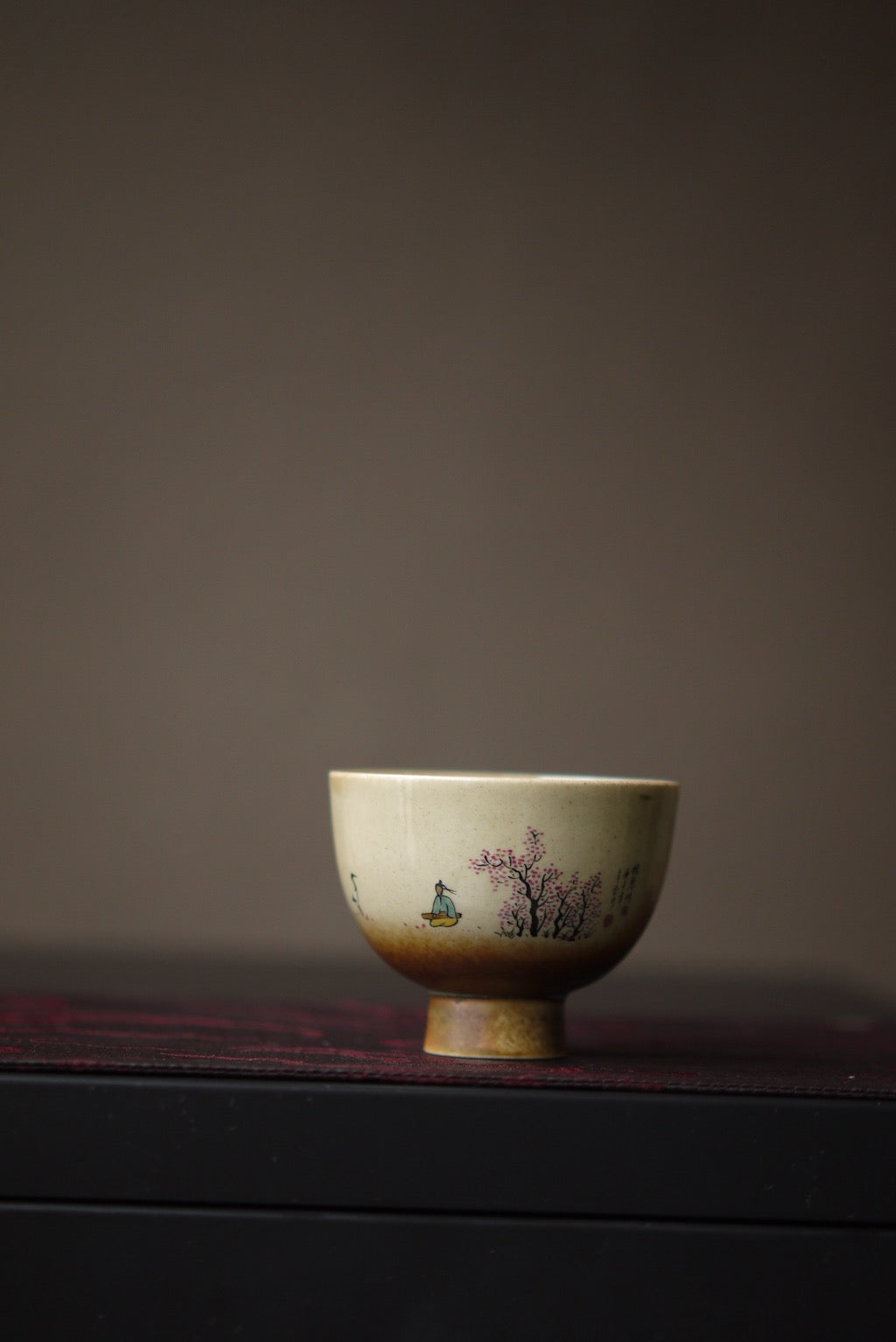 Chinese Hand-Painted Landscape Gongfu Ceramic Teacup|Best Ceramics