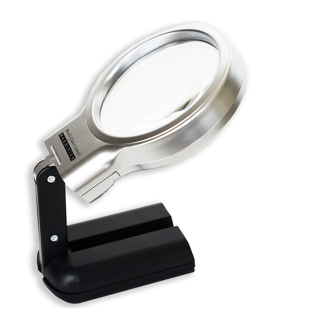 iMagniphy LED Hands Free Magnifying Glass with Stand - 2X + 4X