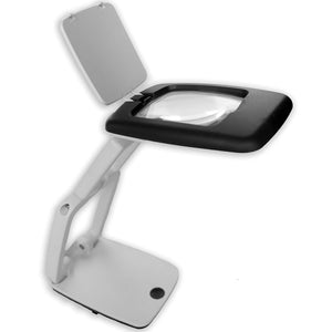 iMagniphy 3X Pocket + Desk Magnifying Glass with 9 LED Lights