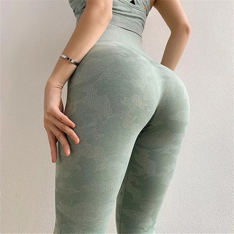 Seamless Camouflage Leggings