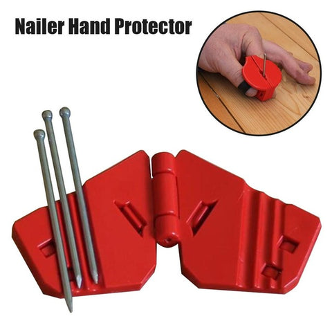 Stretchable Nailed Hand Protector+ Safety Nailed+ Plastic Nail Guider+ Hand Protector Guard For Finish Nails