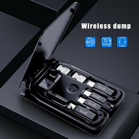 Urban Survival Card+ Multi-Function Data Line+ Conversion Head Wireless Charger+ Universal Portable Storage Bag