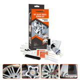 Alloy Wheel Repair Adhesive Kit+ 5 Minutes General Purpose Silver Paint Fix +Tool For Car Rim Dent Scratch Care Accessory