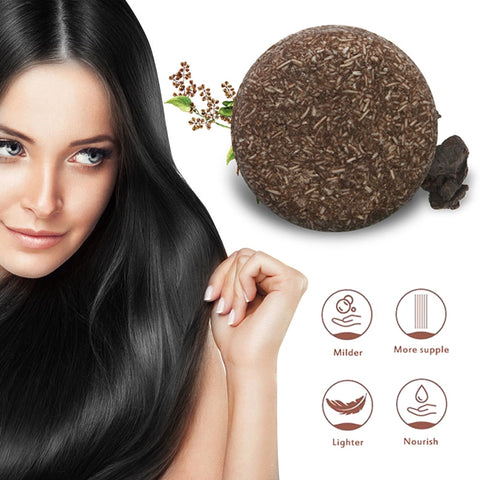 Hair Darkening Shampoo Bar+ Shampoo Soap+ 100% Natural Organic Conditioner + Repair Hair Conditioner + Natural Organic Conditioner