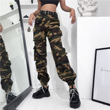 Women's Black Cargo Pants for Women