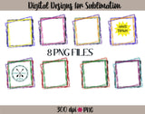 Hand Drawn PNG Sublimation Frames