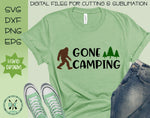 Gone Camping Sasquatch SVG