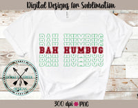 Bah Humbug Stacked Letters PNG