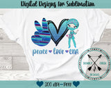 Peace Love CNA Sublimation Design
