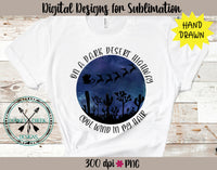 On a Dark Desert Highway Christmas Sublimation Design
