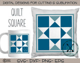 Barn quilt square svg