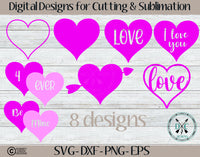 Valentine's Day Hearts  SVG Bundle