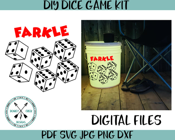 Farkle dice game SVG