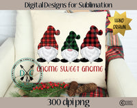 Hand Drawn Christmas Gnomes Sublimation Design
